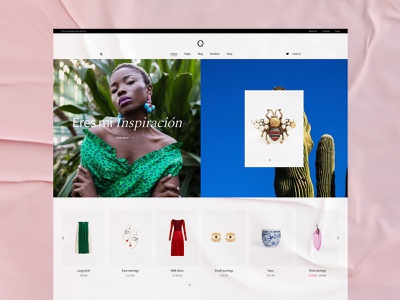 Querida - shop home colors branding webdesign visual design ecommerce shop ui design ux qode interactive