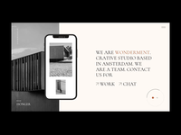 Wonderment - Designer portfolio architecture art studio agency typography webdesign visual design portfolio select themes animation ui design ux qode interactive