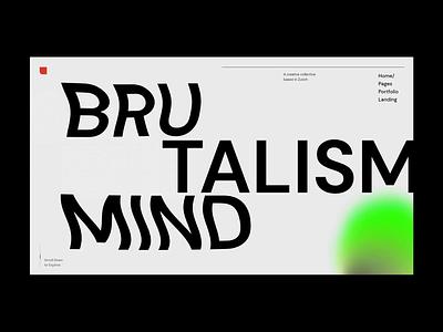 Zermatt - Main home swiss style brutalism branding typography webdesign portfolio visual design ui animation design ux qode interactive