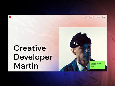 Zermatt - Personal presentation liquid animation brutalism portfolio typography webdesign visual design ui animation ux design qode interactive