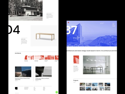Zermatt - Architecture studio 1 grid design grid layout architecture brutalism webdesign visual design portfolio ui design qode interactive