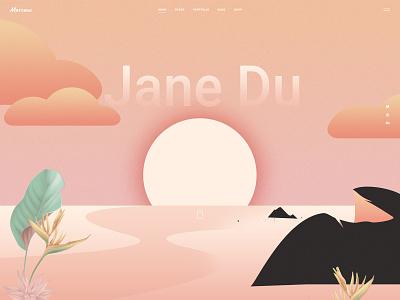 Marceau - Main home sea illustration visual design portfolio ui ux design qode interactive