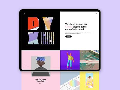 Marceau - Creative Agency typography agency website 3d art illustration webdesign visual design portfolio ui design ux qode interactive