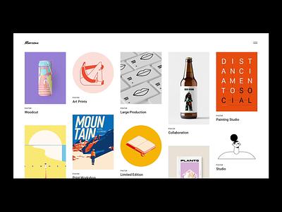 Marceau - Portfolio Scattered branding illustration visual design portfolio animation design qode interactive