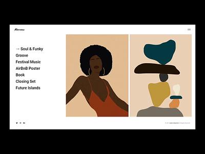 Marceau - Interactive project list portfolio illustration animation ui ux design qode interactive