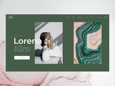 Amedeo / Multi-concept Artist and Creative Agency Theme first shot hello dribbble design ux artist elated themes interaction wordpress web animation typogaphy ui green gallery art gallery elated qode interactive amedeo