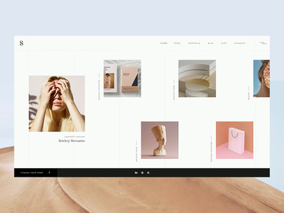 Sahel - Nyiri desert ux ui design ux motion qode interactive elated themes animation layout portfolio sahel