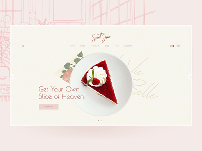 Sweet Jane - Delightful Cake Shop Theme slider patisserie ice cream sweet shop sweet jane sweets desert pastry confectionery chocolate shop chocolate cake shop cake bakery design ux elated themes qode interactive animation
