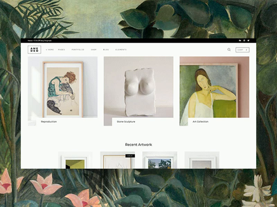 Amedeo - Artwork shop green gallery shop shop woocomerce eccomerce gallery ui amedeo elated themes qode interactive