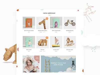 Peggi Shop peggi peggi theme ui ux design ecommerce shop children childbook kids toys select themes qode interactive