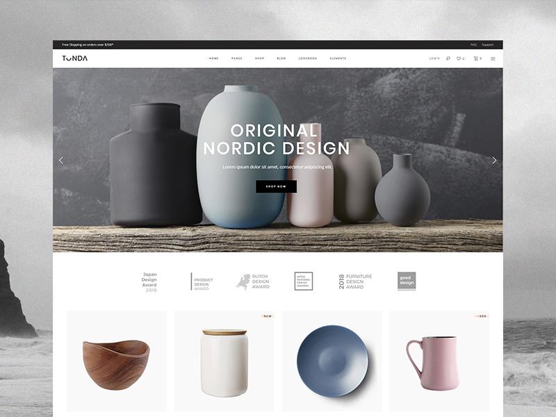 Tonda - Studio home ceramic shop tonda select themes tonda theme sea colors ocean colors furniture pottery woocomerce ecommerce ui design qode interactive