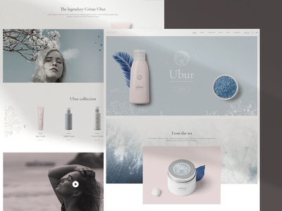 Imogen - Product showcase imogen theme landing page product showcase product branding cosmetics visual design branding ecommerce design ux elated themes qode interactive