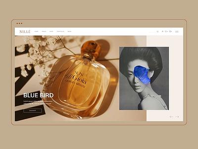 Nillé - Perfumes Home cosmetics perfumes woocommerce ecommerce webdesign visual design select themes shop ui animation design ux qode interactive