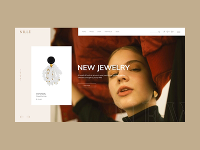 Nillé - main home fashion shop clothing store woocommerce store slider select themes visual design ux ecommerce shop ui animation qode interactive