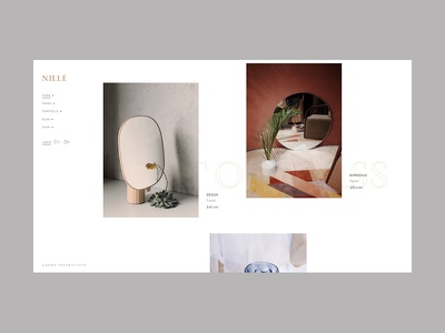Nillé -  Floating products furniture home decor floating product list glass visual design select themes ecommerce shop portfolio ui animation design ux qode interactive