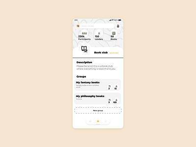 Bookz groups social media books design app ux ui