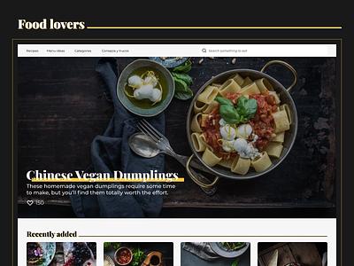 Food lovers 🥪 yellow branding idea food recipe home app home design ux video ui