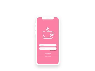 Coffee app ux ui design pink coffeeshop login app coffee