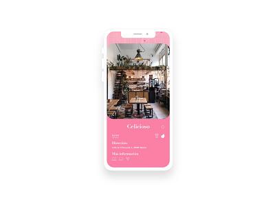 Coffee app info pink design app coffee ux design ux ui design ui
