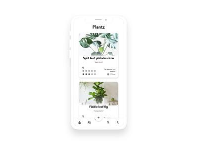 Plantz minimalism minimalist green plants design ux ui app