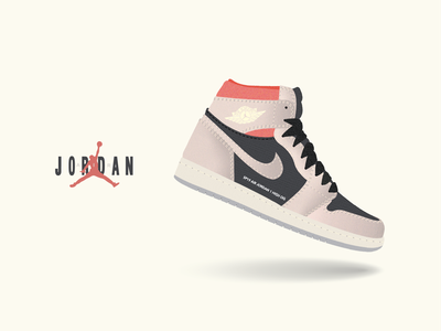 Jordan 1 nike air shoes jordan sneaker design illustration