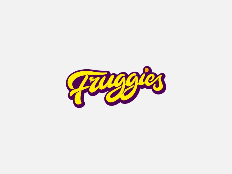 Fruggies Logo custom typography logo design logo