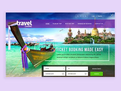 Travel Website Design Concept web header header website website design website banner travel website