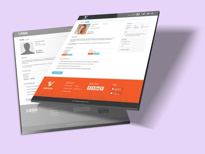 Profile Page Design website website banner landing page wireframe profile profile page design
