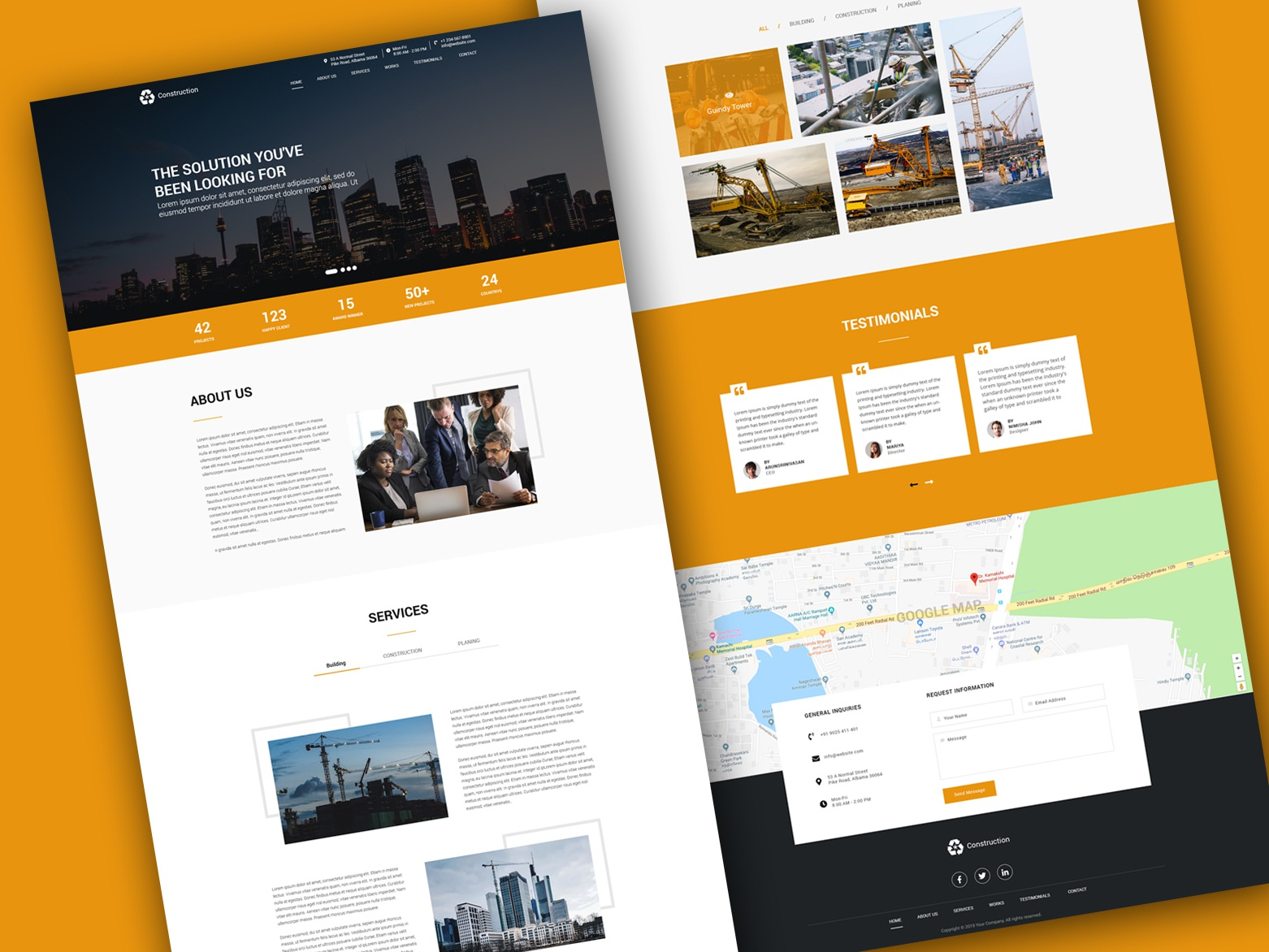 construction_Landing page parallax scrolling parallax parallax website kaliraj construction website yellow template psd template construction construction-landingpage one page template