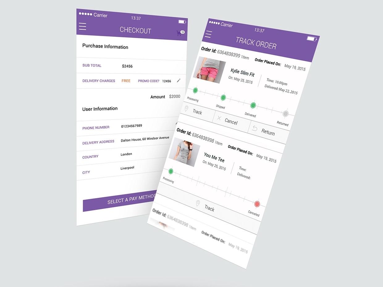 Order tracking mobile application kaliraj tracking application mobile application shoping mobile app order tracking