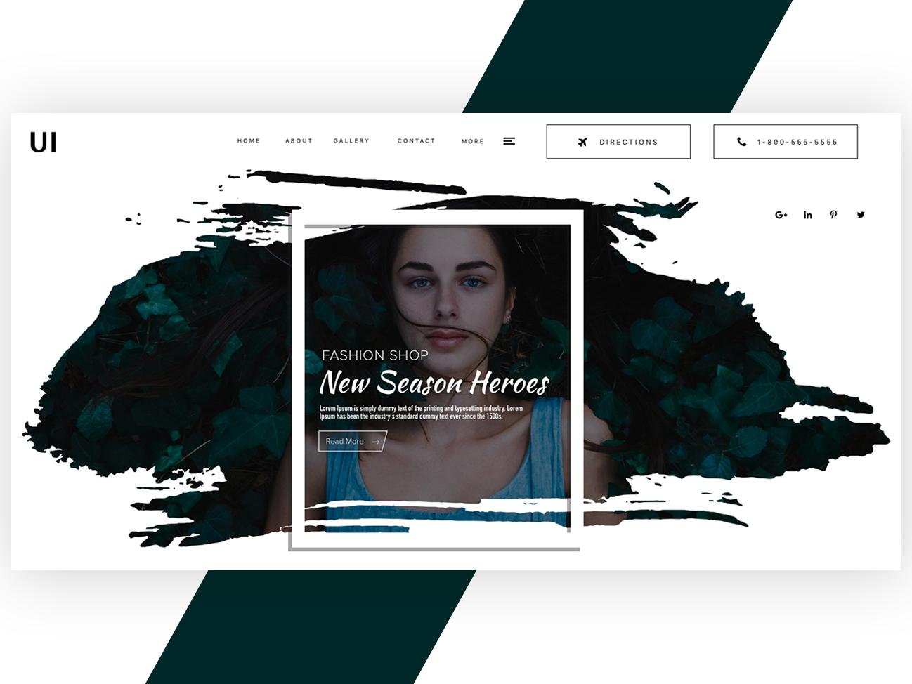 Fashion Landing page design website slider website banner fashion landing page