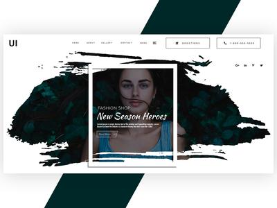 Fashion Landing page design