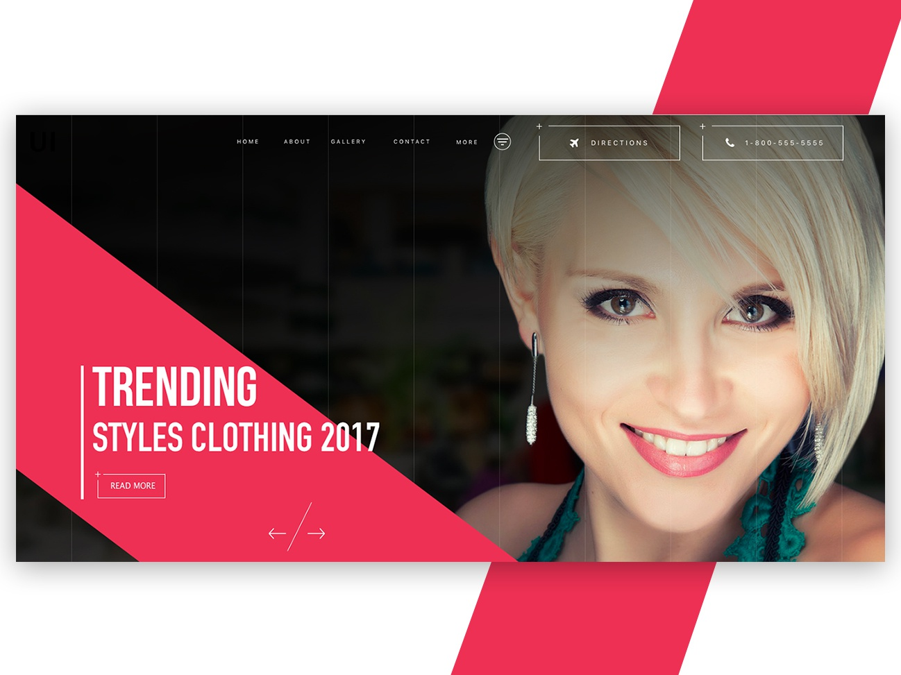 Website header banner landing page fashion header fashion fashion website