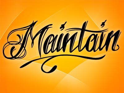 maintain logo rough by erik james albaugh dribbble dribbble