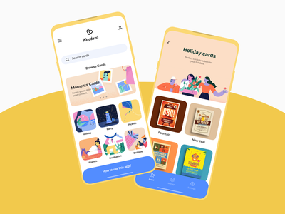 Invite App Main screen invitations celebrations festival app vector illustration design figma app invite ux ui