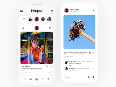 Instagram Redesign branding design app ios white inspiration redesign instagram ux ui