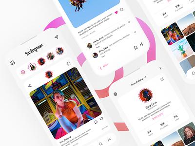 Instagram Redesign socail media app design challenges uplabs redesign instagram ux ui