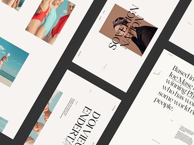 Portfolio Template gsap animation portfolio site photographer website ui ux design