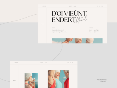 Photographers Folio Projects Page