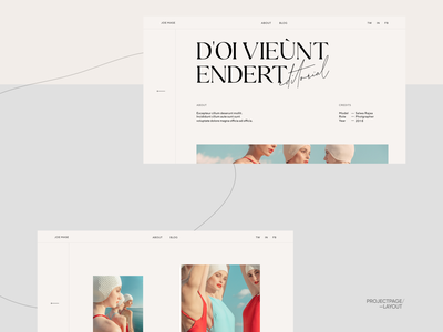 Photographers Folio Projects Page ui design interface animation web design typography ux website design ui