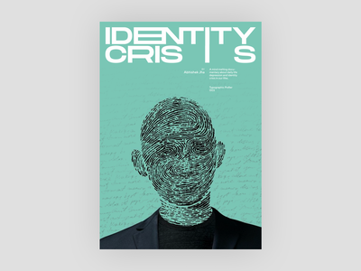 Identity Crisis Poster book cover identity poster typography design