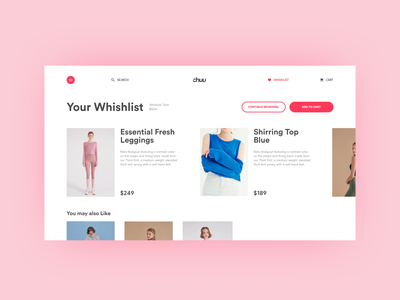 Cart/wishlist design. ecommerce wishlist cart web design typography website ux ui design