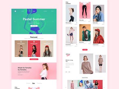 Apparel Website. landing page homepage web design typography design website ux ui