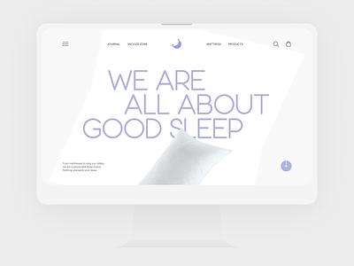 Sleep Brand Website interface photography web design typography website design ux ui