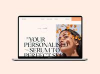 Muteza Skin Serum tech beauty startup ecommerce product serum skin typography app website ux ui design