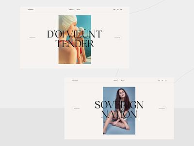 Photographers Folio Template gsap css html freebie free template interface ui design branding web design typography design website ux ui