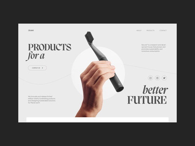 Secure professional minimal clean agency research and developement typography website design ux ui