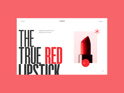 Lipstick Landing Page beauty freelancer design web design website typography branding ui