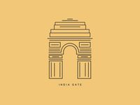 India Gate Lineart