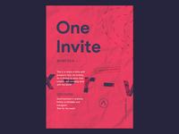 1 Dribbble Invite.